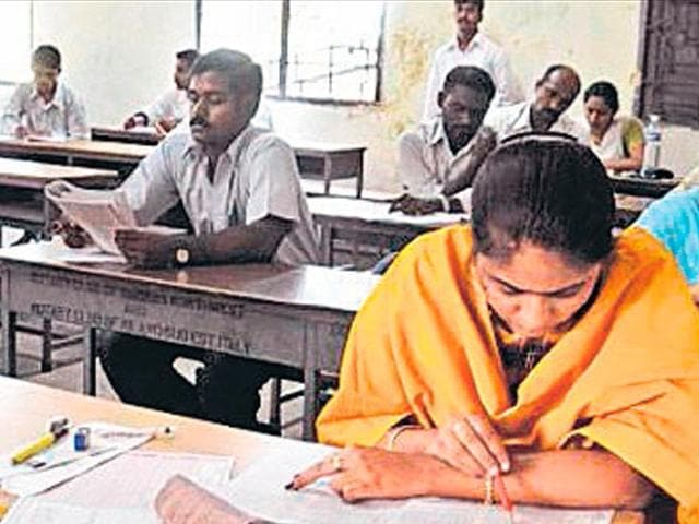 More than 22 lakh candidates appeared for the TET on Sunday.