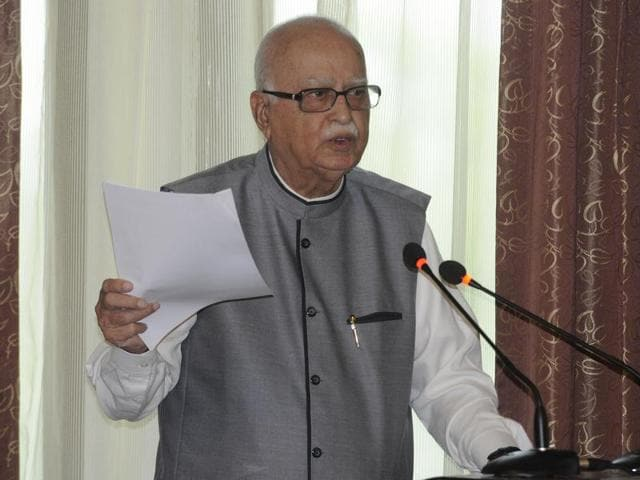 Former deputy Prime Minister and senior  BJP leader Lal Krishna Advani, at an event  in New Delhi on Monday, October 12, 2015. Advani has voiced concern over the growing intolerance in the country towards any counter point of view.