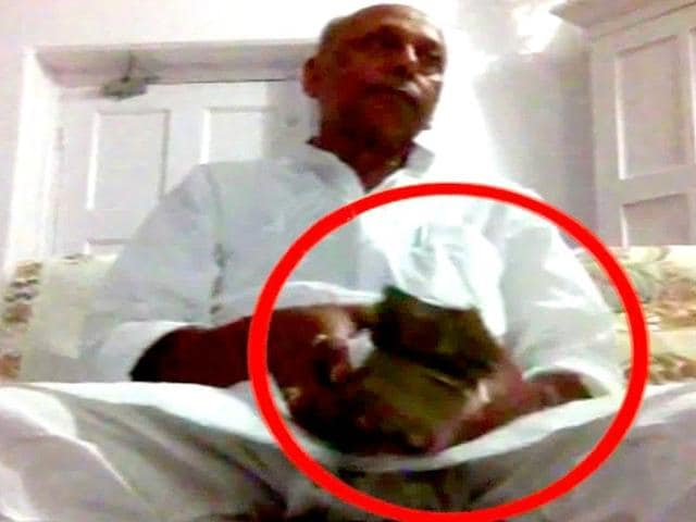 In a video that surfaced on Sunday, JD(U) leader Awadhesh Prasad Kushwaha was purportedly seen taking bribe.