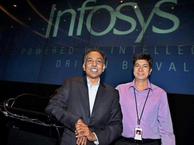 Infosys announced on Monday that its chief financial officer Rajiv Bansal (right) has resigned from the company.