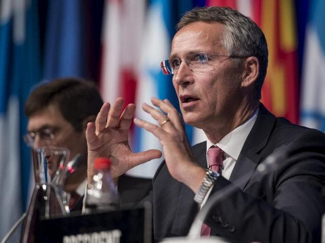 Nato secretary general Jens Stoltenberg attends a Parliamentary meeting in Stavanger.