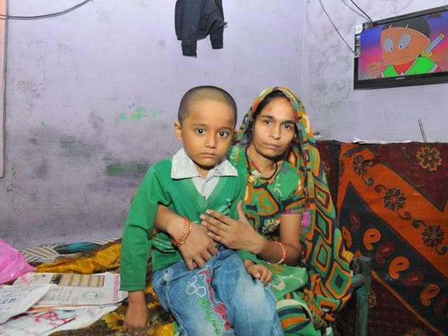 Tushar with his mother, Sonu