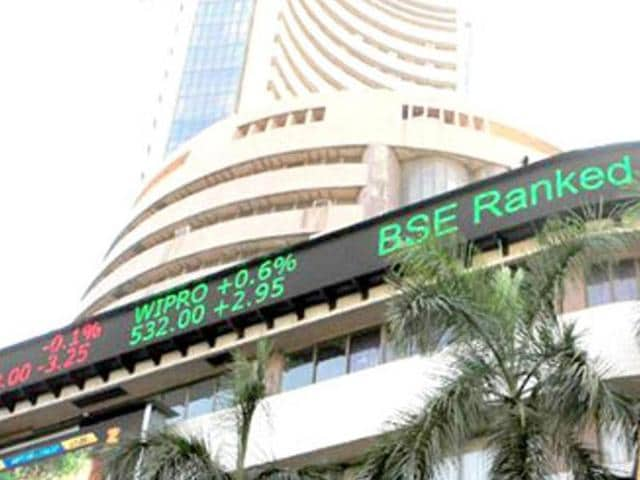 Market benchmark Sensex settled 175.40 points lower at 26,904.11 on Monday after surging over 225 points in early trade following a downward revision in Infosys dollar revenue forecast.