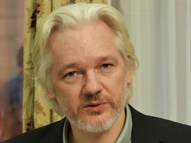 A file photo of WikiLeaks founder Julian Assange.