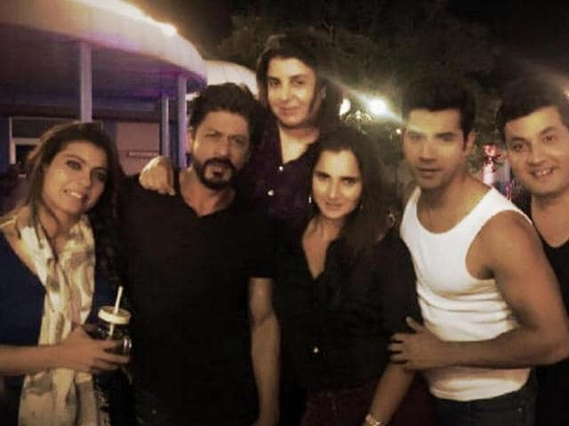 Sania with Dilwale team.