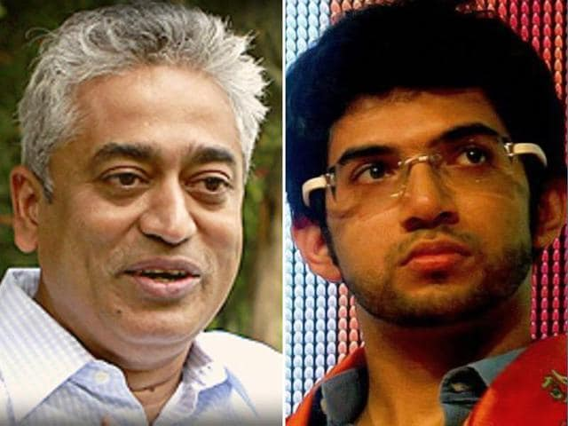 Shiv Sena chief Uddhav Thackeray's son Aaditya has sought to justify his party's opposition to the release of a book by Pakistan's former foreign minister and a concert by ghazal maestro Ghulam Ali while replying to journalist Rajdeep Sardesai's open letter questioning the Sena's actions.