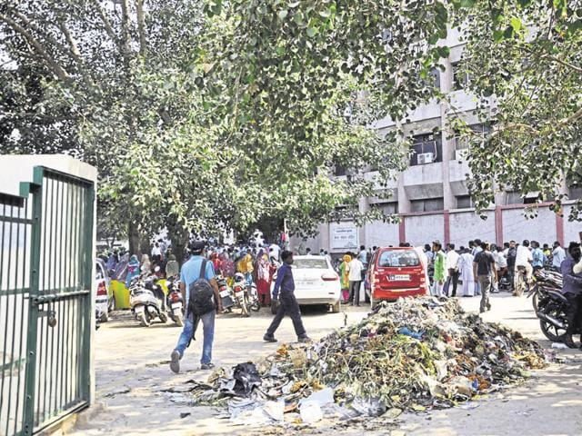 The workers had been sitting on dharna at the municipal corporation headquarters since October 5.