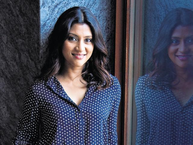 New Delhi, India-20150928: Indian film actress Konkona Sen Sharma pose for a profile shoot during an interview with HTCity-Hindustan Times at Dusit Devarana, New Delhi, India, on September 28, 2015.