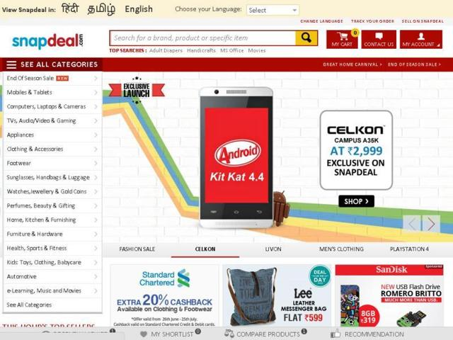 Snapdeal announced expected profits of $100 million from its Monday Electronics sales offer.