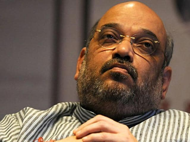 File photo of BJP president Amit Shah. Shah told a TV channel on October 13, 2015, that the Dadri lynching incident was wrong and party MLA Sangeet Som should not have visited the village.