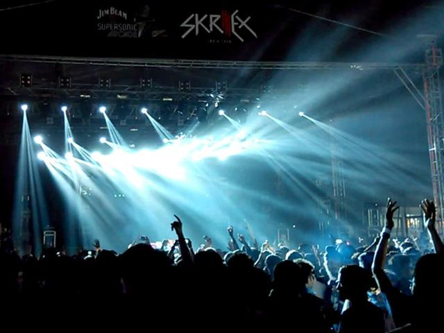 Around 10,000 people reportedly turned up for the  Skrillex concert in Gurgaon.