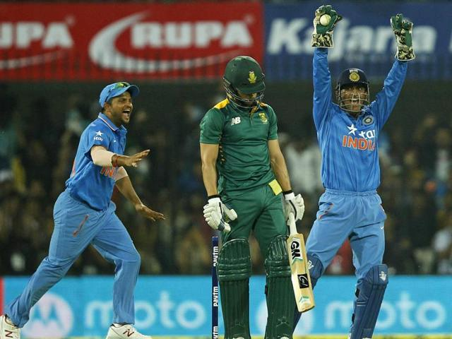 India vs South Africa cricket series 2015,MS Dhoni,AB de Villiers