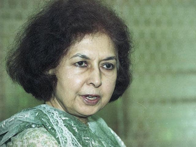 A file photo of Nayantara Sahgal.