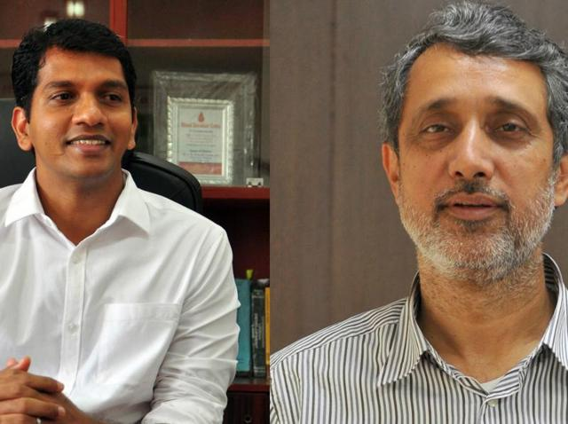 CEO SBDeepak Kumar (left) and chairman Maninder Singh (right) of the Chandigarh Housing Board