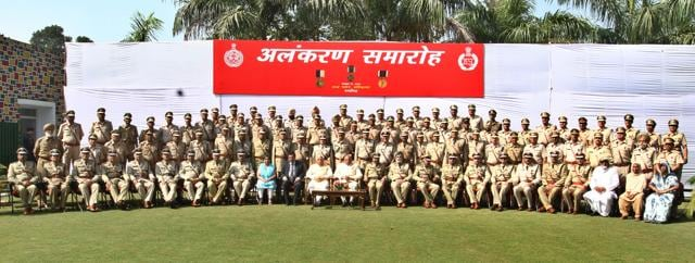 As many as 95 police personnel, including 23 IPS officers, were conferred with the President's police medals by Haryana governor Kaptan Singh Solanki on Thursday at an investiture ceremony held at the Haryana Raj Bhawan here.
