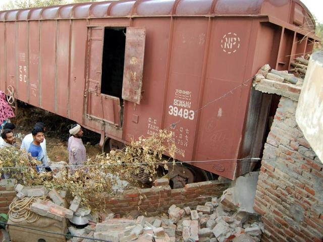 Sangrur,Train crashes into house,Patiala