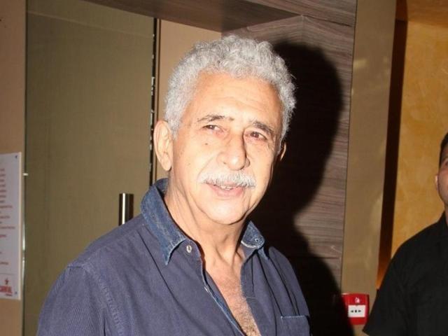 Naseeruddin Shah during the trailer launch of film Charlie Ke Chakkar Mein, in Mumbai, on September 25, 2015.