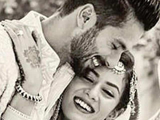 Shahid Kapoor serenades Mira Rajput at their sangeet ceremony in Gurgaon on Monday. The couple got married on Tuesday morning at a private ceremony attended only by close family and friends.