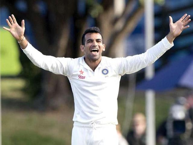 A file photo of Zaheer Khan in action during his last Test match for India, against New Zealand at the Basin Reserve in Wellington last year.