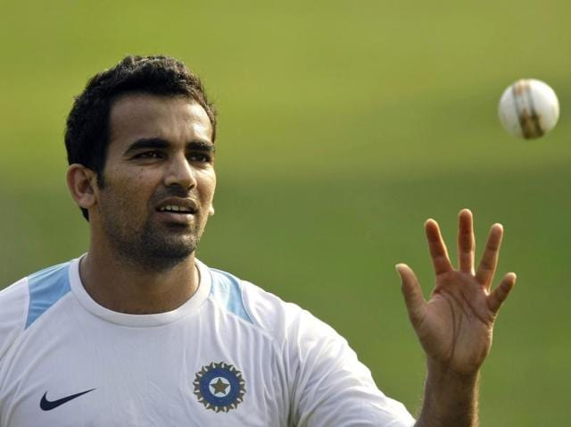 A file photo of Zaheer Khan during a practice session.