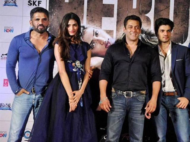 Salman Khan,Suniel Shetty,Athiya Shetty