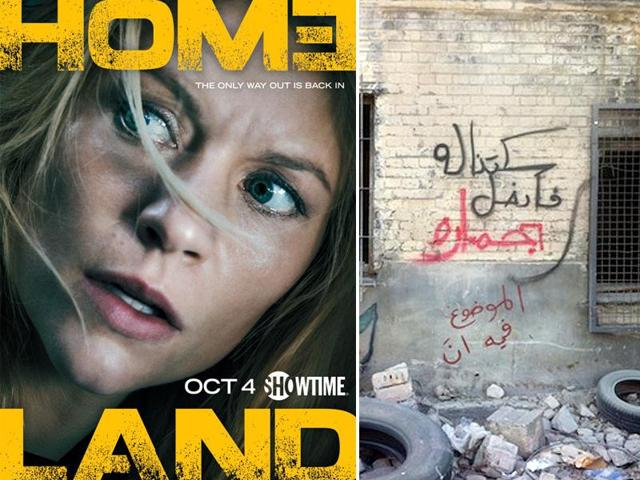 Homeland was attacked by Arabian street artists in the show.