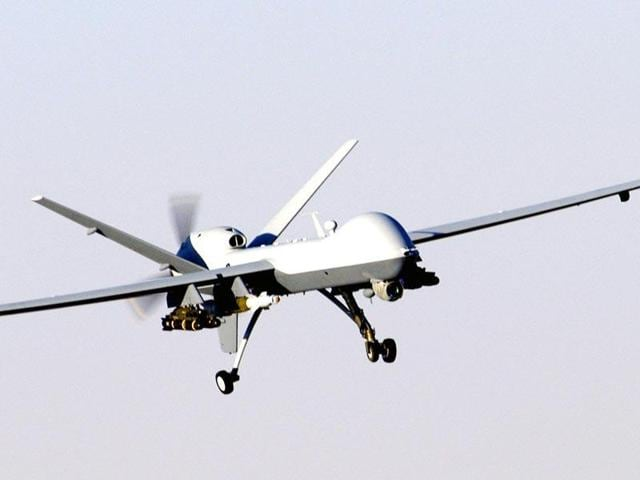 US military's combat drone, the MQ-9 Reaper. (Wikimedia Commons)
