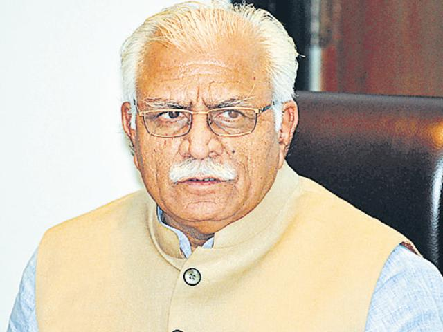Muslims have to give up beef to live in country: Haryana CM Khattar.(Hindustan Times)