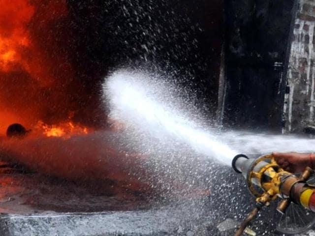 Representative photo of fire in a hotel.
