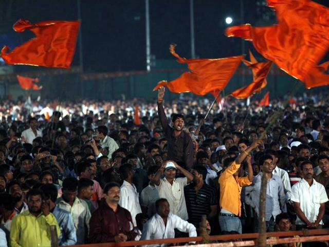 A file photo of a Shiv Sena rally at Shivaji Park.
