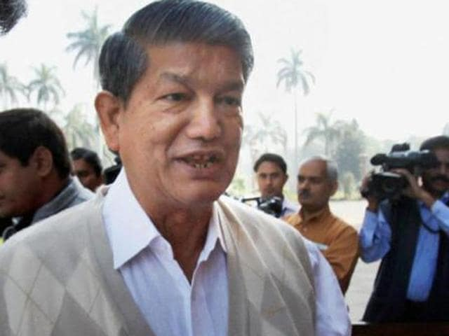 Chief minister Harish Rawat.