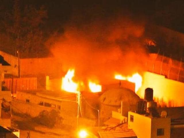 Palestinians set ablaze the Jewish shrine St Joseph's Tomb in Nablus, West Bank as other incidents of violence continued to be reported across Israel.