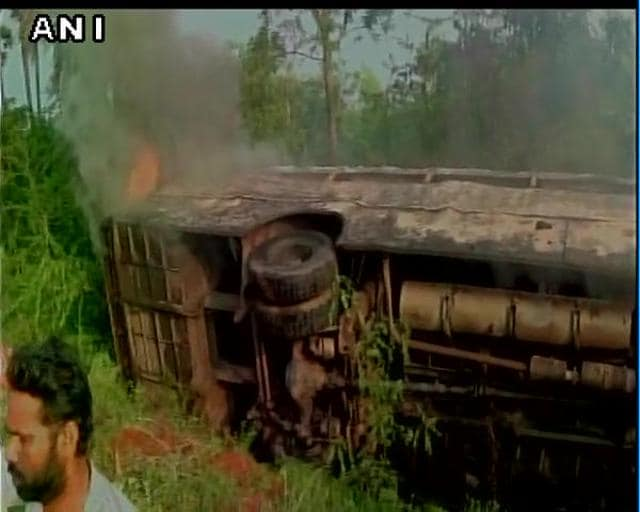 Thirteen people were killed and 10 injured when a mini truck collided with a bus near Kandukur town of Andhra Pradesh.