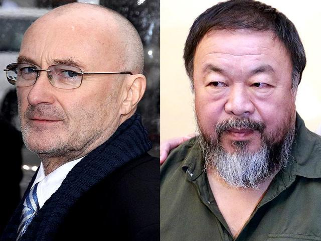 Rockstars and crazy artists: Phil Collins and Al Weiwei.