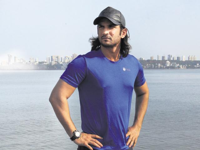 Sushant Singh Rajput at Marine Drive.