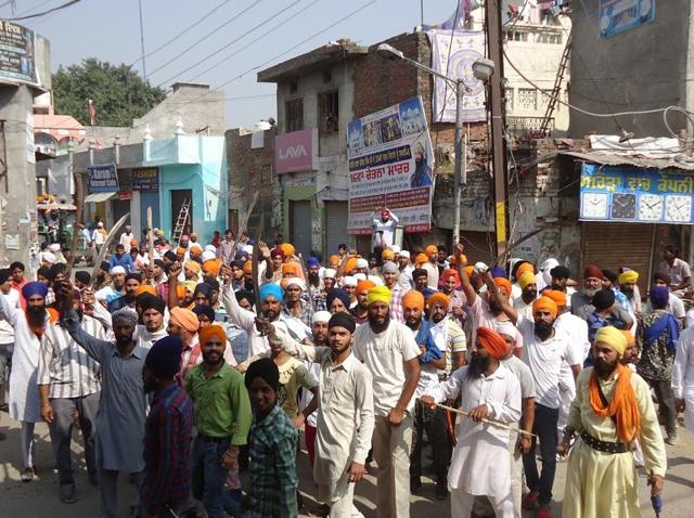 Angry protesters led protest march in the city since early morning.