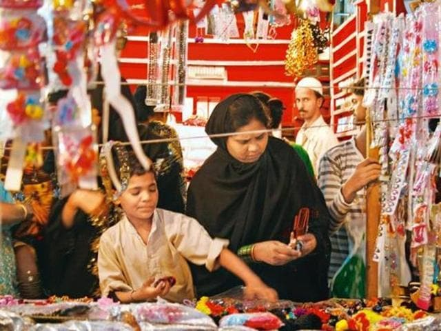 Ramzan shopping at Mohammad Ali Road, Mumbai.