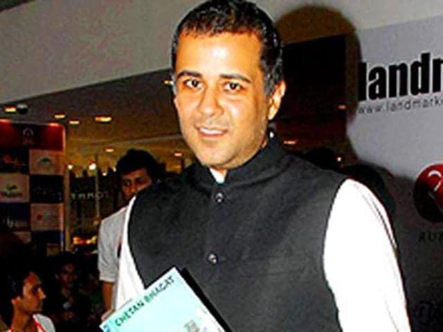 Chetan Bhagat during the launch of his new book Half Girlfriend in Mumbai.