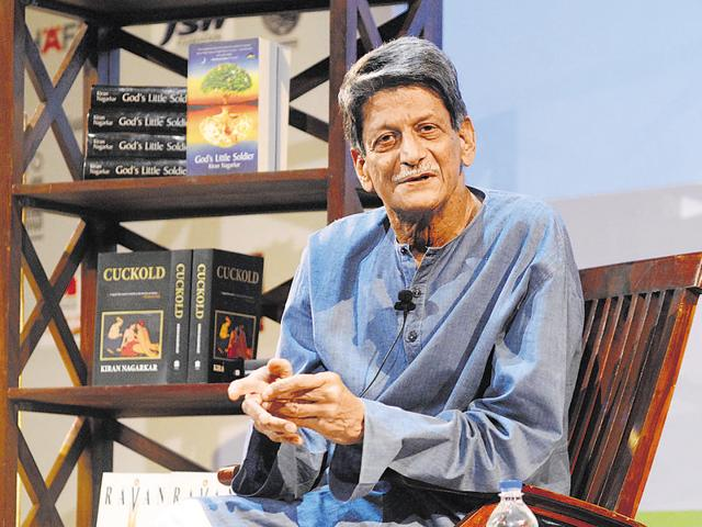 Mumbai-16th nov 2013 - Discussion of Masterclass in Fiction with Kiran Nagarkar during Tata Literature live at NCPA, Mumbai on 16th nov 2013.