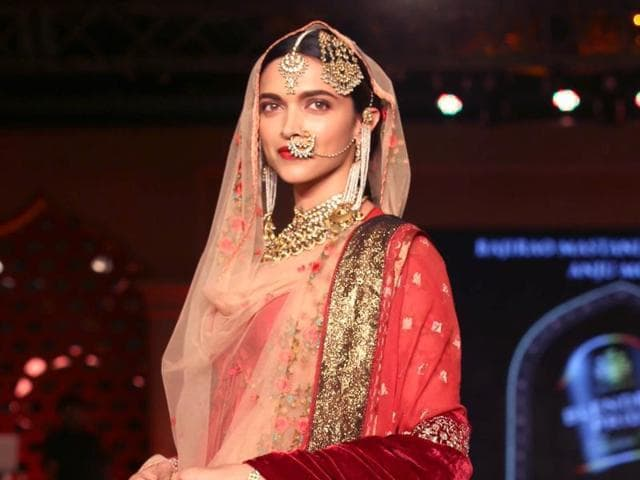 Deepika Padukone during a press conference to launch the song Deewani Mastani from the upcoming film Bajirao Mastani, in Gurgaon on Oct 17, 2015.