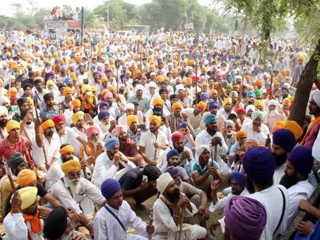 Protests in Punjab,Dharnas,Faridkot