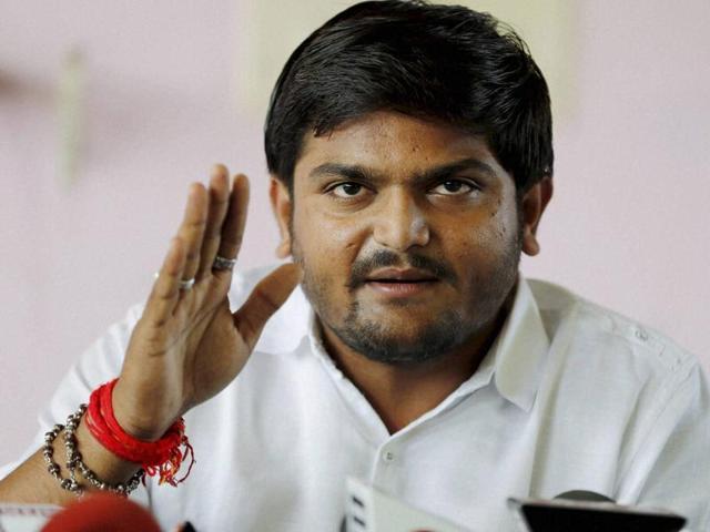Patidar community leader Hardik Patel addresses a news conference at Adalaj, Gujarat on Saturday.  Hardik has threatened to disrupt the India-South Africa ODI at Rajkot on Sunday.