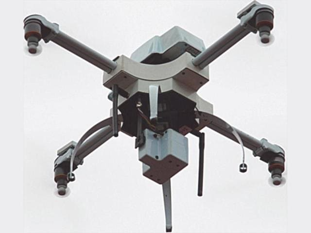 An unmanned aerial vehicle (UAV) created a scare in one of Delhi's most secured areas on Saturday evening.