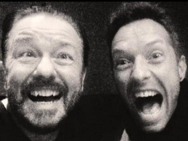 Chris Martin,Ricky Gervais,Chris Martin Ricky Gervais