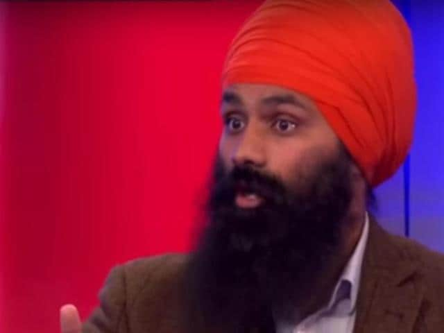 Jagmeet Singh disrupted BCC's  show over lack of media coverage on violence against Sikhs in Punjab.