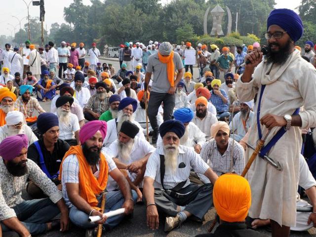 Protests against sacrilege,Nabha,Patiala