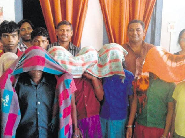 The rescued minors in Lohardaga.