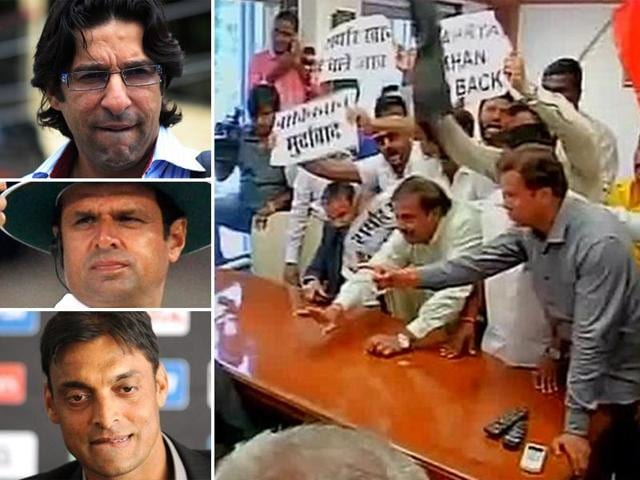 Umpire Aleem Dar was withdrawn, while commentators Wasim Akram and Shoaib Akhtar pulled out of the ongoing India-South Africa series on Monday, hours after Shiv Sena activists forced cancellation of talks between cricket officials of India and Pakistan.