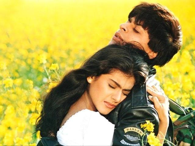 Kajol, SRKin DDLJ.