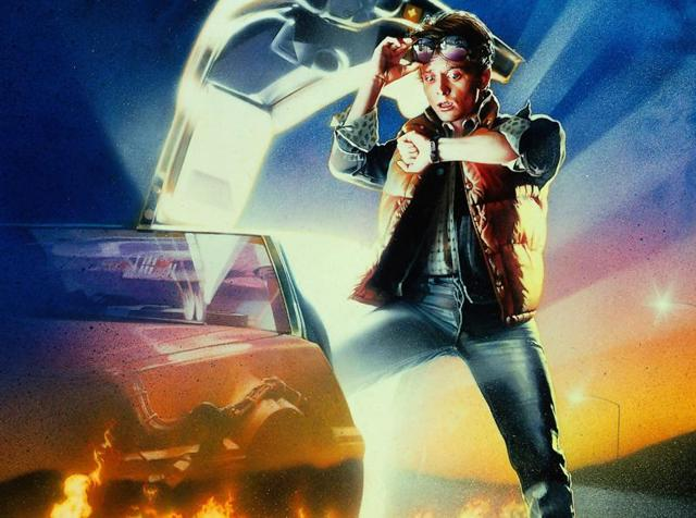 The Back to the Future poster.